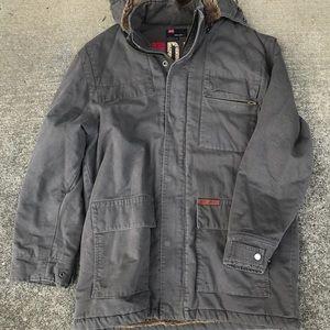 Diesel men's fur jacket coat military field
